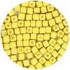 Square Beads 3.4x3.4mm Metalic Yellow Matte Terra Color